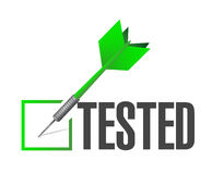 Tested dart check mark of approval Royalty Free Stock Photo