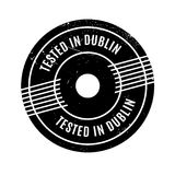 Tested In Dublin rubber stamp Royalty Free Stock Image