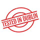 Tested In Dublin rubber stamp. Grunge design with dust scratches. Effects can be easily removed for a clean, crisp look. Color is easily changed Royalty Free Stock Images