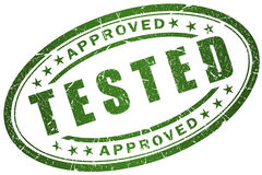 Tested stamp. Isolated over white vector illustration