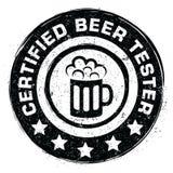 Tester certificato della birra Fotografia Stock Libera da Diritti