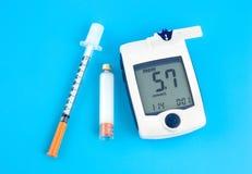 Tester del glucosio fotografia stock