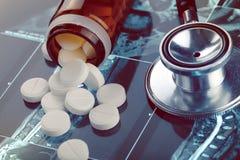 Testergebnisse und medizinisches Therapiekonzept Lizenzfreie Stockfotografie