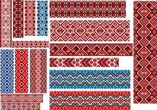 Testes padrões étnicos para o ponto do bordado Fotografia de Stock Royalty Free