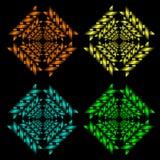 Testes padrões abstratos Fotografia de Stock