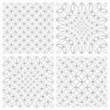 Testes padrões abstratos ajustados Imagem de Stock