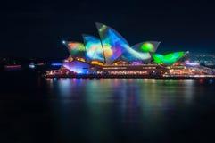 Testes padrões abstratos coloridos em Sydney Light Show vívido Fotos de Stock