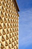 Testes padrões abstratos do edifício moderno do hotel Fotografia de Stock