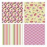 Testes padrões abstratos e florais Imagens de Stock Royalty Free