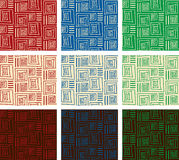 9 testes padrões abstratos geométricos Foto de Stock Royalty Free
