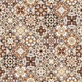 Testes padrões abstratos no grupo do mosaico Foto de Stock Royalty Free