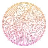 Testes padrões abstratos tirados mão ilustração do vetor