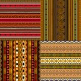 Testes padrões africanos decorativos Fotografia de Stock
