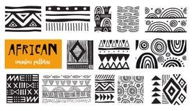 Testes padrões africanos sem emenda da arte moderna Coleção do vetor ilustração stock