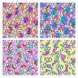 Testes padrões ajustados de memphis ilustração stock