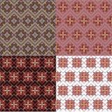 Testes padrões ajustados do vintage sem emenda geométrico Fotos de Stock