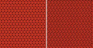 Testes padrões alaranjados ajustados Imagens de Stock