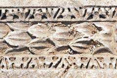 Testes padrões antigos em Ephesus, Turquia. Fotos de Stock