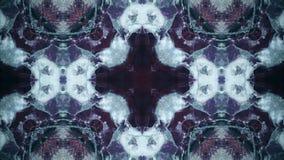 Testes padrões azuis da sequência do caleidoscópio Fundo colorido abstrato dos gráficos do movimento Laço sem emenda ilustração do vetor