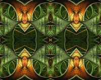 Testes padrões bonitos coloridos gerados por computador da arte finala do sumário 3d ilustração stock