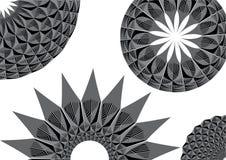Testes padrões circulares monocromáticos Fotos de Stock