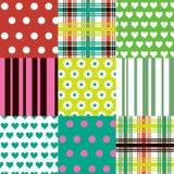 Testes padrões coloridos Foto de Stock Royalty Free