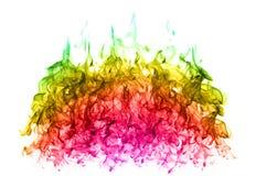 Testes padrões coloridos abstratos da chama no fundo branco Fotografia de Stock