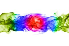 Testes padrões coloridos abstratos da chama no fundo branco Foto de Stock