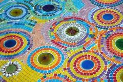 Testes padrões coloridos da cerâmica bonita Foto de Stock