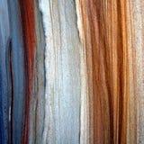 Testes padrões coloridos do arenito fotografia de stock