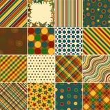 Testes padrões coloridos do fundo ilustração stock