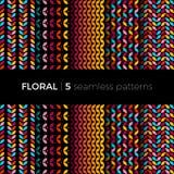 Testes padrões coloridos florais Fotografia de Stock