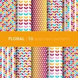 Testes padrões coloridos florais Imagens de Stock