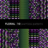 Testes padrões coloridos florais Foto de Stock