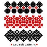 Testes padrões com ternos do cartão ilustração do vetor
