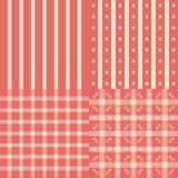 Testes padrões cor-de-rosa ajustados Imagem de Stock