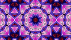 Testes padrões cor-de-rosa da sequência do caleidoscópio 4K filme