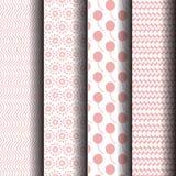Testes padrões cor-de-rosa e brancos Imagens de Stock Royalty Free