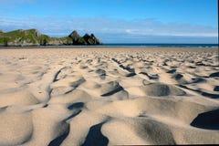 Testes padrões da areia Fotografia de Stock