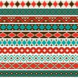 Testes padrões da beira do nativo americano imagens de stock royalty free