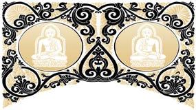 Testes padrões da Buda do vetor ilustração royalty free