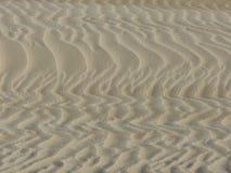 Testes padrões da duna de areia Foto de Stock