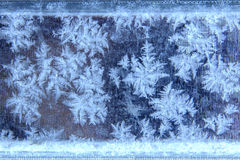 Testes padrões da geada natural e dos flocos de neve Fotos de Stock