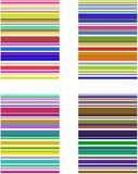 Testes padrões da listra Imagens de Stock