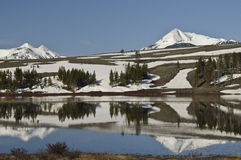 Testes padrões da montanha e da neve Imagem de Stock