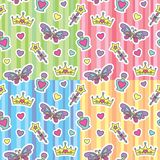 Testes padrões da princesa ajustados Imagens de Stock Royalty Free