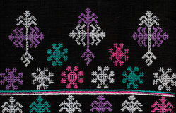 Testes padrões da tela feito à mão tecidos no norte de Tailândia Imagem de Stock Royalty Free