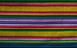 Testes padrões da tela feito à mão tecidos no norte de Tailândia Imagens de Stock Royalty Free