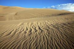 Testes padrões das dunas de areia Imagem de Stock