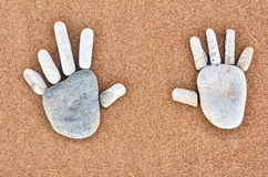 Testes padrões das mãos Foto de Stock Royalty Free